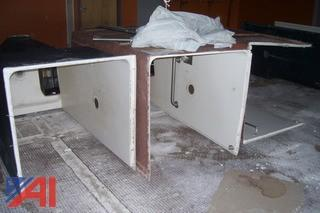 (3) Units of Fiberglass Handicap Shower Stalls