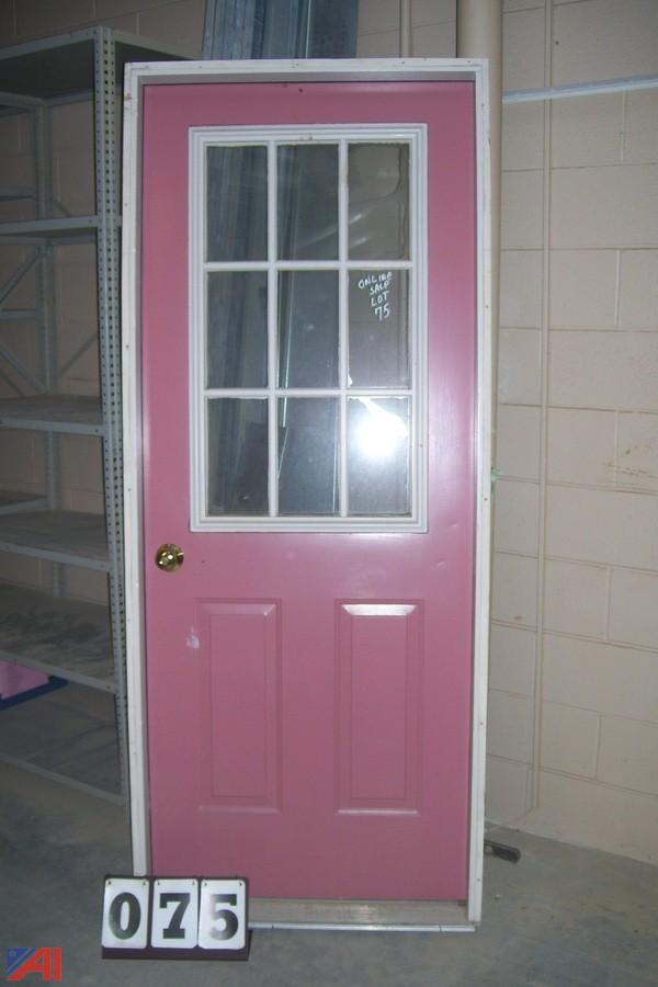 Auctions international auction town of plymouth ma pshs for Insulated entry door
