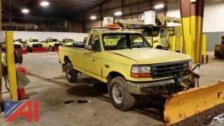 1997 Ford F250 Pickup with Plow