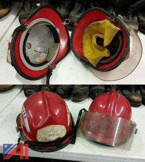 (2) Red Bell Helmets