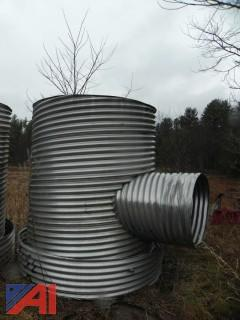 (2) Aluminum Drainage Ditch Pipes