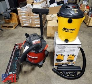 3) Pc New & Used Wet Dry Shop Vacs