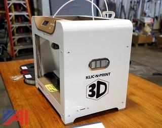 Like New KLIC-N-PRINT 3D Printer