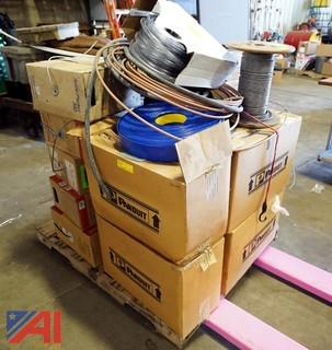 Lot: Panduit Cable Ties, Copper Tubing & Wiring, etc.