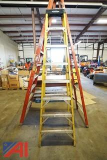 2) Werner Fiber Coated Step Ladders
