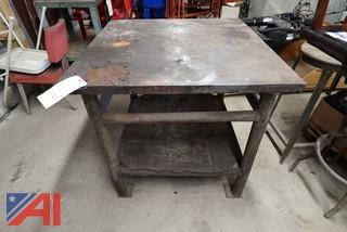 "1) 36"" x 36"" Heavy Steel Welding Table"