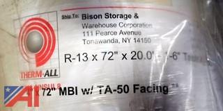 "4) NEW R-13 x 72"" x 20' Insulation Rolls"