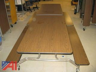 (4) Folding Cafe Tables on Wheels