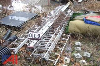 Lot of Extension Ladders