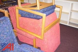 Upholstered Chairs with Ottoman