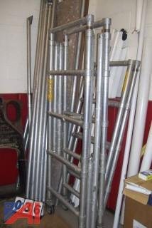 Aluminum Pipe Staging with planks