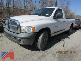 **Updated: unknown if vehicle operates or starts** 2005 Dodge Ram 1500 Pickup