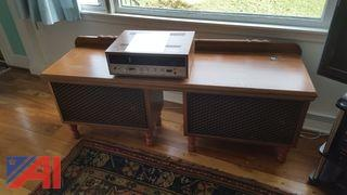 Sansui 5000X Reciever and Speaker Cabinet