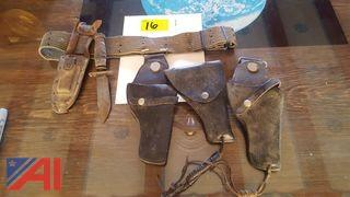 Vietnam Era Pilot Knife and Holsters