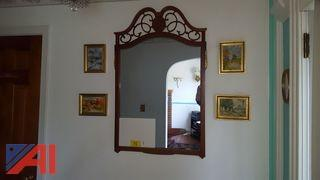 Mirror and Assorted Oil Paintings