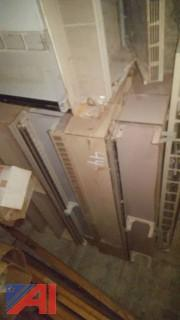 Lot of Metal Radiator Cabinets
