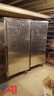 (2) Piper Hot/Cold Food Cabinets