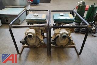 "(2) Makita Gas Powered 2"" Portable Trash Pumps"