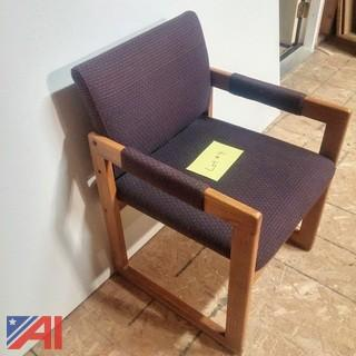 (12) Oak Conference Arm Chairs