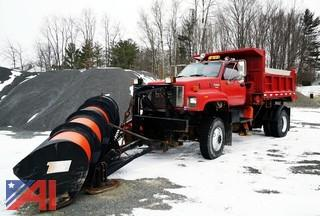 1995 GMC TopKick Dump Truck with Plow & Spreader