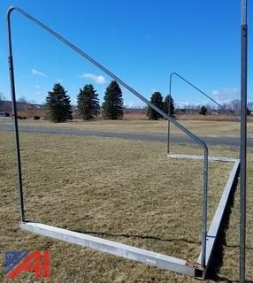 Set of Aluminum Fold-A-Goal Soccer Goals