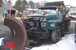 1990 Ford F800F Sander Plow Combination