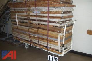 (25) Folding Wooden Tables with Cart