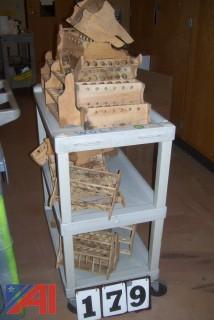 Lot of Wooden Test Tube Holders