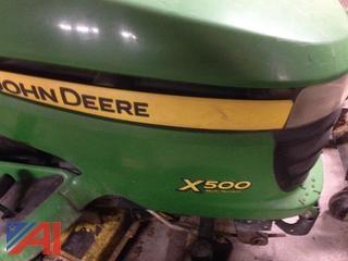 "John Deere 48"" X500 Riding Mower"