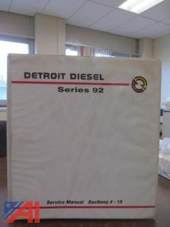 (2) Vintage Detroit 92 Series Service Manuals
