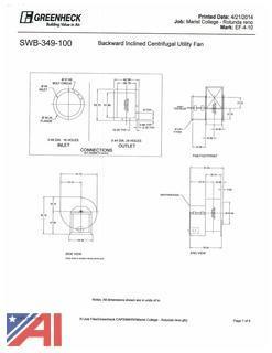 (1) Backward Inclined Centrifugal Utility Fan
