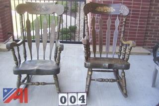(2) Nichols & Stone Rocking Chairs