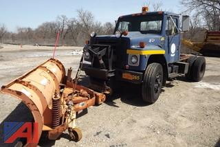1987 International 1754 Cab and Chassis Plow Truck