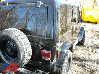 1988 Jeep Wrangler 2 DR SUV, Black