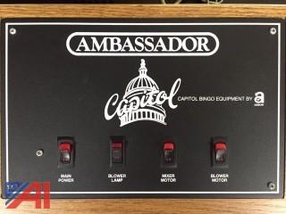 Ambassador Bingo Machine with Numbers Board
