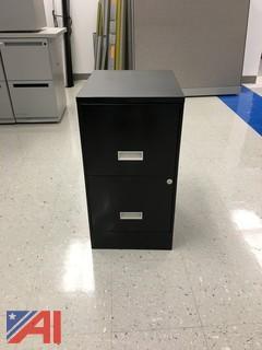 Black 2-Drawer Cabinet
