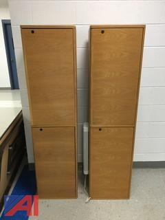 (2) Overhead Wood-Finish Cabinets