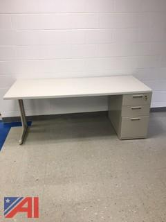 Counter Top Table/Leg Stand and Two Drawer Cabinet