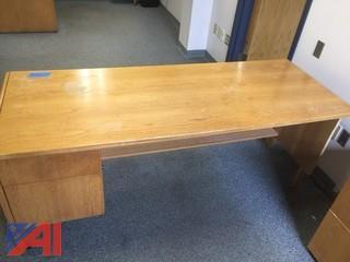 Wood Desk, 2-Drawer