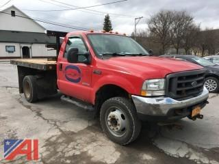2004 Ford F550 Flatbed Truck with Plow