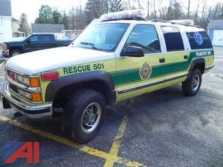 1996 Chevy Suburban K1500 SUV-Fire Department Vehicle