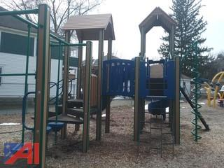 Playground Equipment - Slide and Climbing Structure