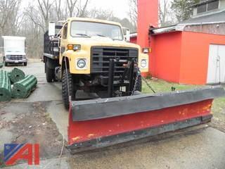 1989 International 1854 Stake Rack Truck w/ Plow