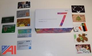 Iconia One 7 Tablet and Gift Cards