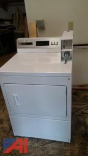White Maytag Commercial Coin Operated Electric Dryer