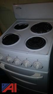 "20"" White Summit Electric Stove"
