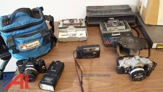 (5) Assorted Cameras and Accessories