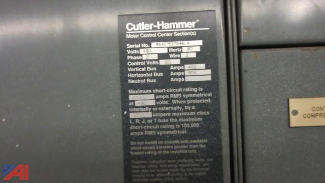Auctions international auction business liquidation for Cutler hammer motor control center