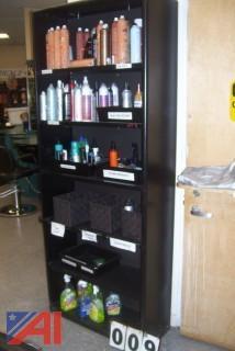 Metal shelf units