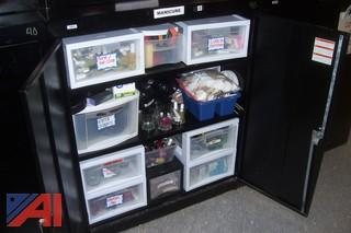 Black Metal Cabinets and Shelves
